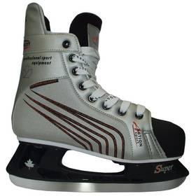 Hokejové korčule Acra Acra Canadien, vel. 43 čierne/strieborné