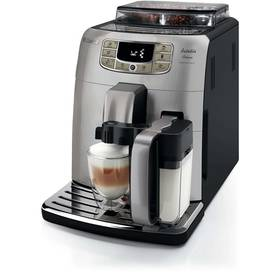 Saeco Intelia Deluxe HD8906/01 černé/stříbrné + Káva BIO zrnková Uganda 250 g Simon Lévelt v hodnotě 159 Kč + Doprava zdarma