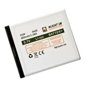 Baterie Aligator pro A420 900mAh, Li-Ion - bílá (A420BAL)