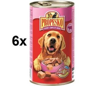 Propesko kousky pes hovězí + kuřecí + zvěřina 6 x 1240g