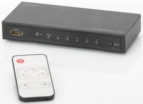 Digitus 5x1, podpora 4K + dálkové ovládání (DS-49304 ) černý