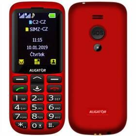Aligator A700 Senior Dual SIM (A700R) červený (vrácené zboží 8800572255)