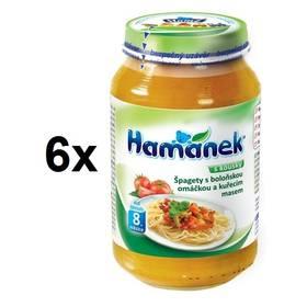 Hamánek špagety bolognese s omáčkou 6x230g