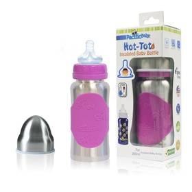 Pacific Baby Hot-Tot 200ml stříbrná/růžová (Náhradní obal / Silně deformovaný obal 2990001487)