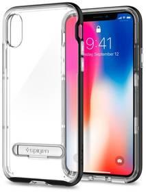 Spigen Crystal Hybrid pro Apple iPhone X (HOUAPIPXSPBK1) černý