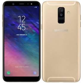 Samsung Galaxy A6+ (SM-A605FZDNXEZ) zlatý SIM s kreditem T-Mobile 200Kč Twist Online Internet (zdarma)