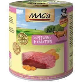 MACs Dog Maso z hlav a mrkev 800g