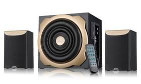 Fenda F&D A520U 2.1, radio, USB, SD, dálkové ovládání (A520U) černé