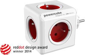 Powercube Original, 5x zásuvka červená