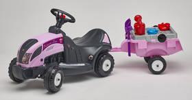 FALK - traktor Princes s volantem, valníkem a příslušenstvím plast + Doprava zdarma