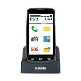 Evolveo EasyPhone D2, Android se snadným ovládáním (EP-D2) černý + Voucher na skin Skinzone pro Mobil CZ v hodnotě 399 Kč