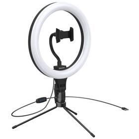 Baseus kruhové světlo pro natáčení, se stojanem (CRZB10-A01) čierne