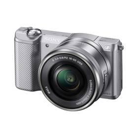 Digitálny fotoaparát Sony Alpha A5000 + 16-50mm strieborný