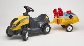 FALK - traktor Constructor s volantem, valníkem a příslušenstvím plast + Doprava zdarma