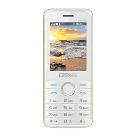 MaxCom Classic MM136 Dual SIM (MM136WH/GDDS) bílý/zlatý