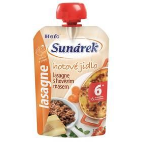 Sunárek Do ručičky Meal Pouch - Lasagne s hovězím masem 120g x 12ks