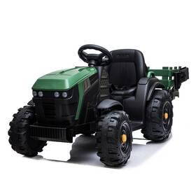 Elektrický traktor MaDe s přívěsem černo/zelený