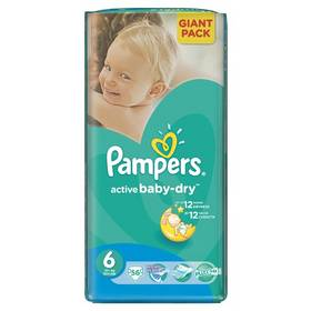 Pampers Active Baby-dry vel.6 Extra Large, 56ks