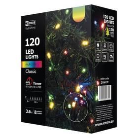 EMOS 120 LED, 12m, řetěz, vícebarevná, časovač, i venkovní použití (1534081035) + Doprava zdarma