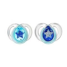 Cumľom Tommee Tippee CTN silikon Night 6-18m - tyrkysovomodré s hvězdou modrý/tyrkysový