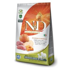N&D Grain Free Pumpkin DOG Adult M/L Boar & Apple 12kg + Doprava zdarma