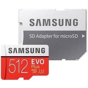Samsung Micro SDXC EVO+ 512GB Class 10 UHS-3 (R100/W90) + SD adaptér (MB-MC512HA/EU)