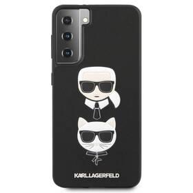 Karl Lagerfeld Saffiano K&C Heads na Samsung Galaxy S21+ 5G (KLHCS21MSAKICKCBK) čierny