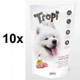 Tropi De Lux Dog lunchmeat s příchutí krocana 10 x 500 g