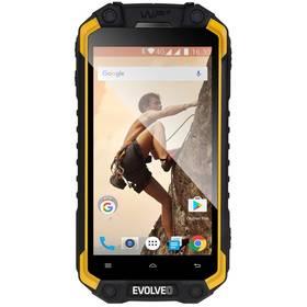 Evolveo StrongPhone Q9 (SGP-Q9-Y) černý/žlutý SIM s kreditem T-Mobile 200Kč Twist Online Internet (zdarma) + Doprava zdarma