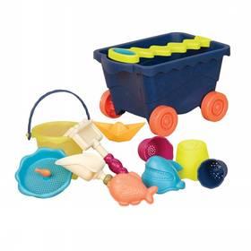 Vozík na písek B-toys s hračkami - modrý