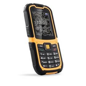 myPhone HAMMER 2 Dual SIM (TELMYHHA2OR) černý/oranžový SIM s kreditem T-Mobile 200Kč Twist Online Internet (zdarma)