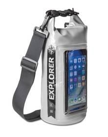 """Celly Voděodolný vak Explorer 2L s kapsou na telefon do 6,2""""  - šedý"""