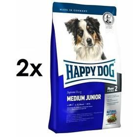 HAPPY DOG MEDIUM Junior 25 2 x 10 kg + Doprava zdarma