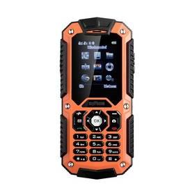 myPhone HAMMER DUAL SIM (TELMYHHAMOR) černý/oranžový SIM s kreditem T-mobile 200Kč Twist Online Internet (zdarma)