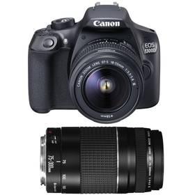 Canon EOS 1300D 18-55 DC + 75-300 DC (1160C049AA) černý Příslušenství Canon CAMERA ACC KIT SD 8GB+100EG+LC + Doprava zdarma