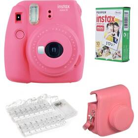 Fujifilm Instax mini 9 LED bundle ružový