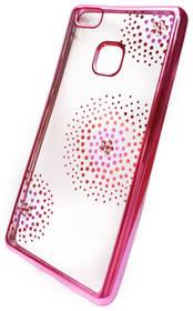 Beeyo Flower Dots pro Huawei P9 Lite (BEAHUP9LTPUFLPI) růžový + Doprava zdarma