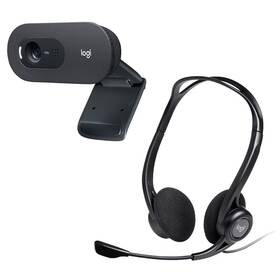 Logitech C505 HD + Headset Logitech 960 USB