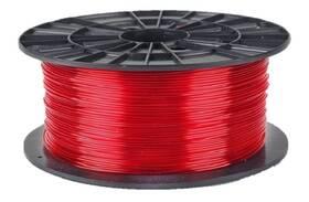 Tisková struna (filament) Plasty Mladeč 1,75 PETG, 1 kg (F175PETG_TRE) červená/průhledná