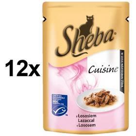 Sheba CUISINE losos ve šťávě 12 x 80g