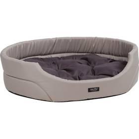 Pelech Argi pro psa oválný s polštářem - L sivý
