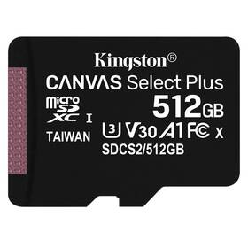 Kingston Canvas Select Plus MicroSDXC 512GB UHS-I U1 (100R/85W) (SDCS2/512GBSP)