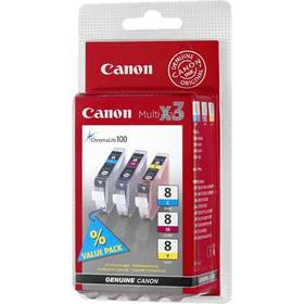 Canon CLI-8 CMY, 420 stran - originální (0621B026) červený/modrý/žlutý