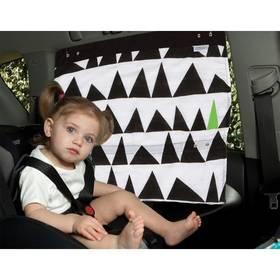 Záclonka do auta Simply Good Geo Love - černá/bílá