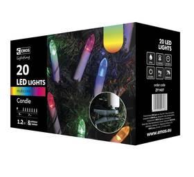 EMOS 20 LED, 7m, řetěz (svíčky), vícebarevná, i venkovní použití (1534141370)