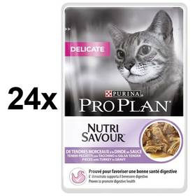 Purina Pro Plan CAT DELICATE Krůta 24 x 85g
