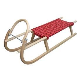 Acra Dřevěné 125 cm červené + Reflexní sada 2 SportTeam (pásek, přívěsek, samolepky) - zelené v hodnotě 58 Kč