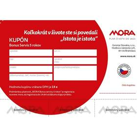 Predĺžená záruka Mora SK - Záruka 5 rokov na sporáky