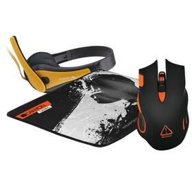 Canyon Corax + podložka + headset (CANYONHERNIBUNDLE) černá/oranžová