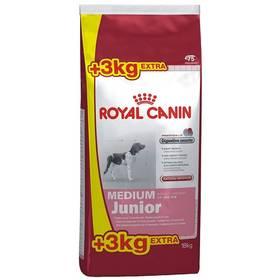 Royal Canin Medium Junior 15 kg + 3 kg + Doprava zdarma